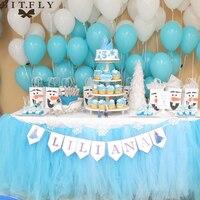 התאמה אישית של עבודת יד טול טוטו חצאית שולחן עוקף שולחן DIY קישוט החתונה משתה מסיבת יום הולדת ורוד לבן טקסטיל לבית