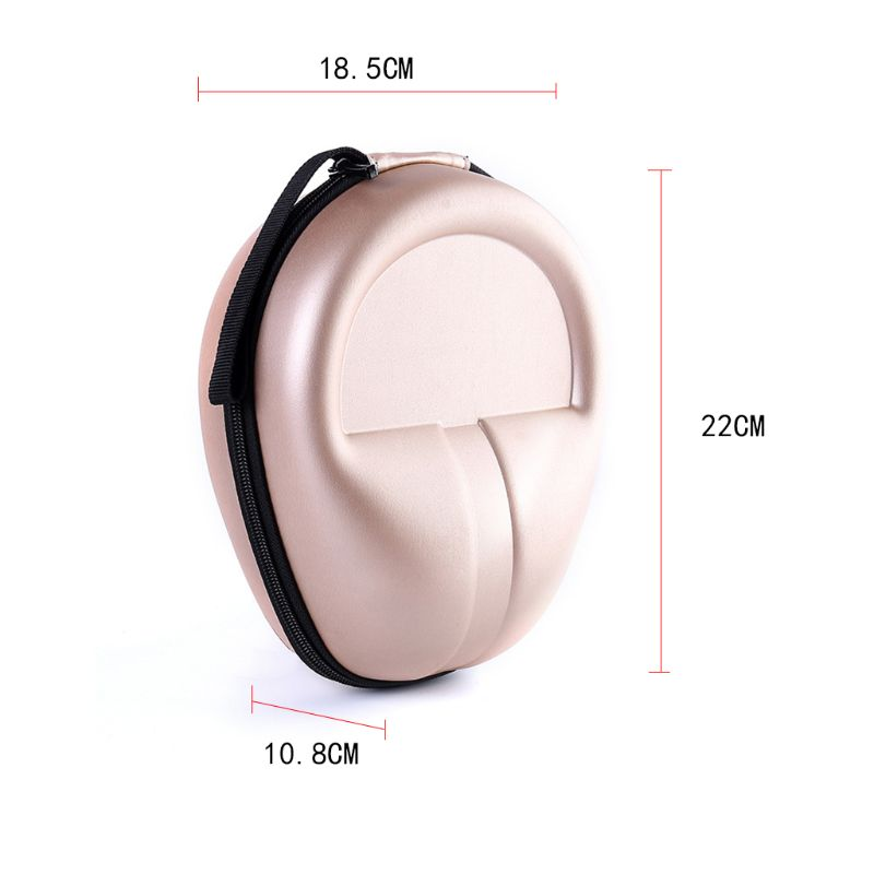 Anti Scratch Gold Hard EVA Storage Bag Carrying Case Protective Cover for Headphone Earphone Headset Accessories in Earphone Accessories from Consumer Electronics