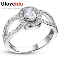 Ruby Blue Green White CZ Diamond Wedding Rings For Women Lovers Best Friends Aliancas De Casamento