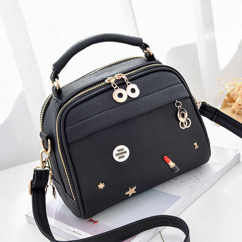 Women's bag 2018 new bag ladies lychee fashion small fragrance fashion women's bag slung shoulder mobile phone