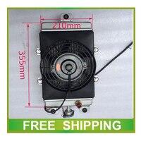 Изменение ATV UTV Багги Go Kart 200cc 250cc 300cc 500cc алюминиевый радиатор воды охлаждающий вентилятор thermstat аксессуары Бесплатная доставка