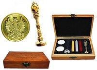 Vintage Phoenix Custom Luxury Wax Seal Sealing Stamp Brass Peacock Metal Handle Sticks Melting Spoon Wood