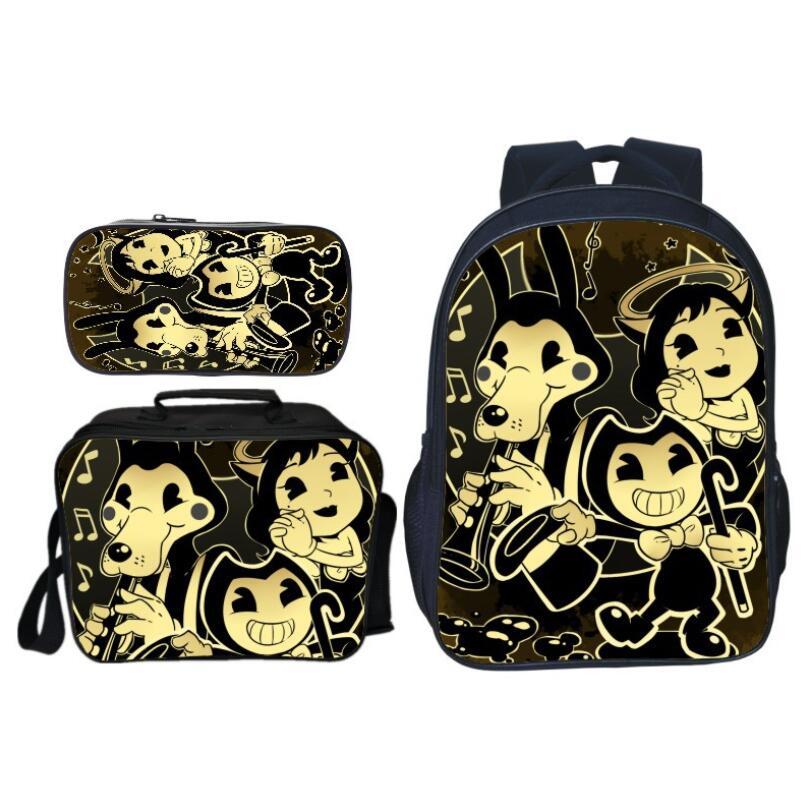 f001041aa476 Бенди и чернила машины школьные ранцы для подростков обувь девочек  мальчиков рюкзак комплект мужской feminina ноутбука