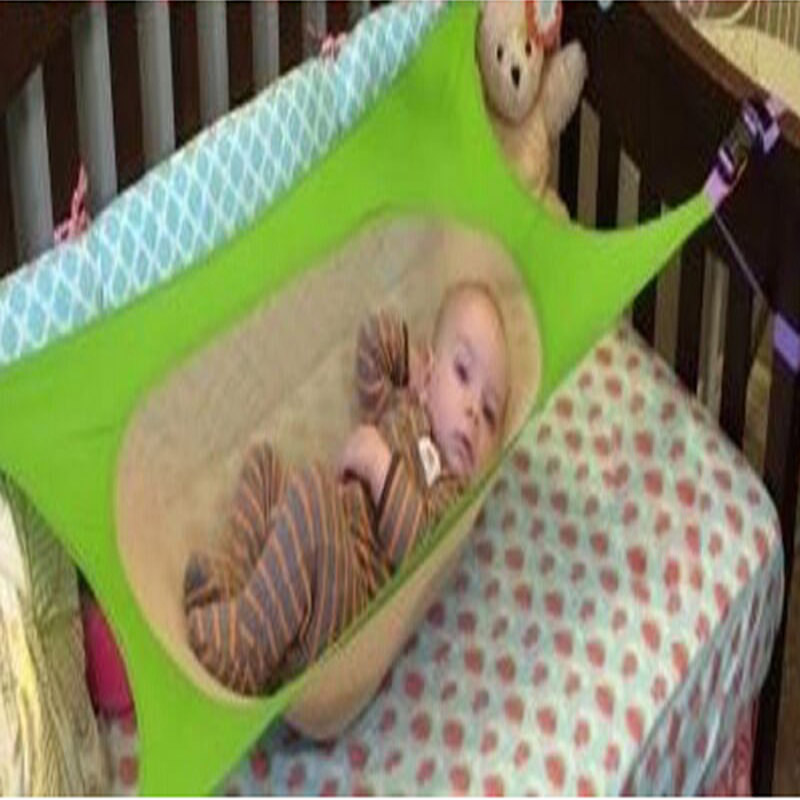 Portable font b Baby b font Crib Hammock Folding Newborn Infant Bed Elastic Detachable font b