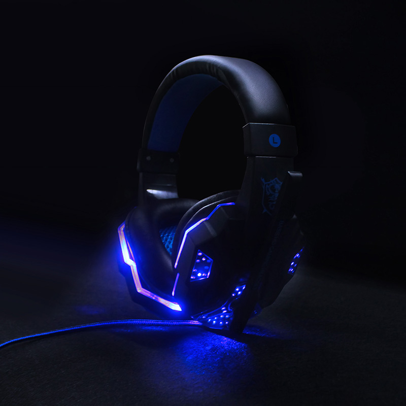 Soyto PS4 Wired Gaming Headset Deep Bass Game Earphone Computer headphones with microphone led light headphones for Xbox One pc