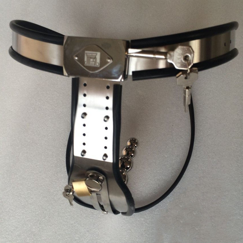 New arc-type waist stainless steel female chastity belt with anal plug sex products for women bdsm fetish wear chastity device