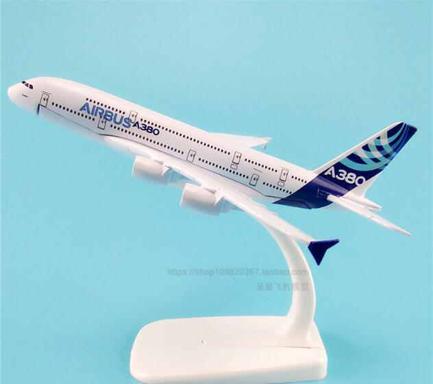 20cm Metal Alloy Air Prototype Airbus 380 A380 Airlines Plane Model ProtoMech Development Aircraft Airplane Model