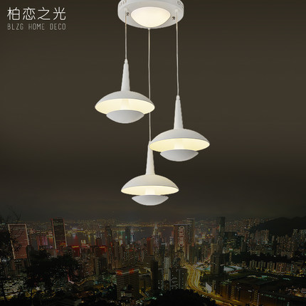 LED dining room lamp three head hanging LED lamp of modern simple lamps and lanterns lighting creative dining room lamp