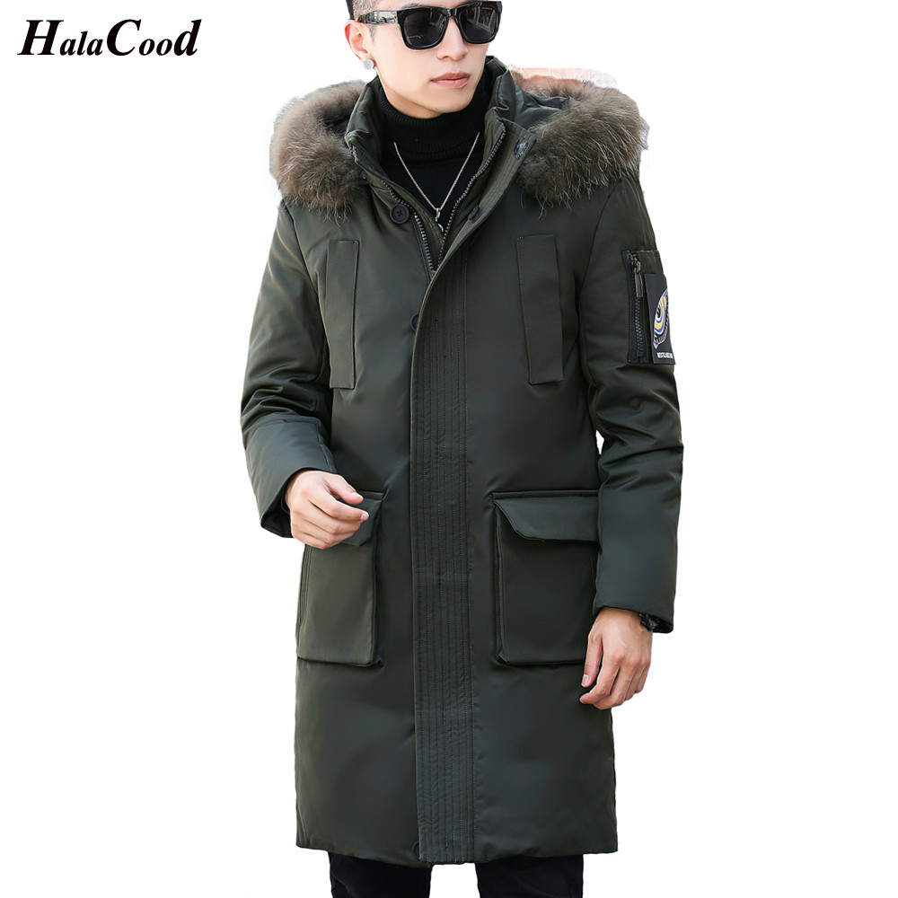 Hot Mens Hooded Long Duck   Down   hooded Jackets Man Thick Winter   Down     Coats   Male Fashion Warm Outerwear Overcoats Duck   Down   Jacket