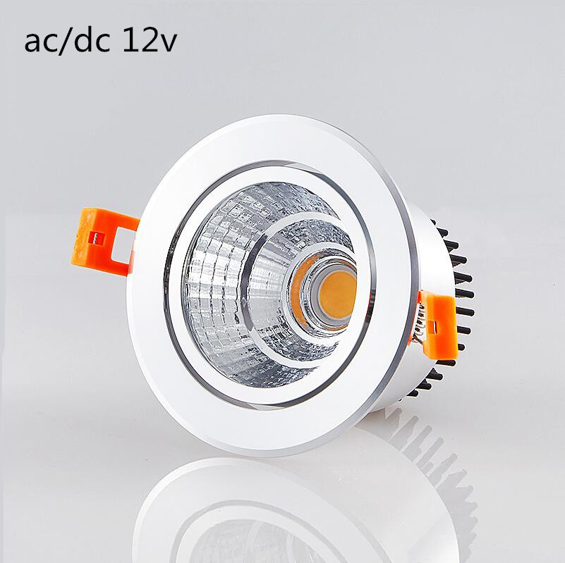 1pcs ac/dc <font><b>12V</b></font> Dimmable <font><b>Led</b></font> <font><b>downlight</b></font> light COB Ceiling Spot Light 3w 5w 7w 9w ceiling recessed Lights Indoor Lighting image