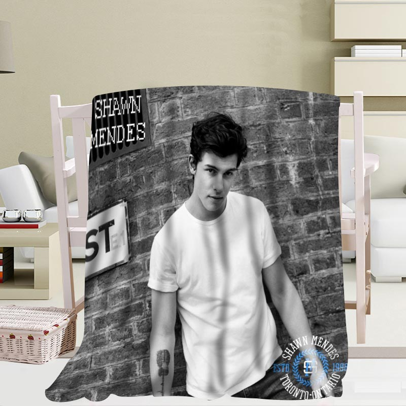 Custom Shawn Mendes Travel Blanket Home TV Casual Relax for Family Soft Fluffy Warm Blanket