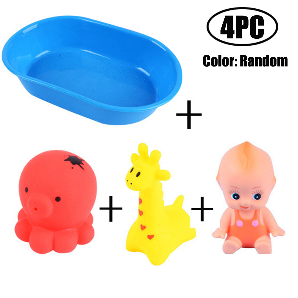 Novelty Pretend Role Play Toy Simulation Doll Animal Model in Bath Tub With Shower Emulated Toy For Kids drop shipping 30S873