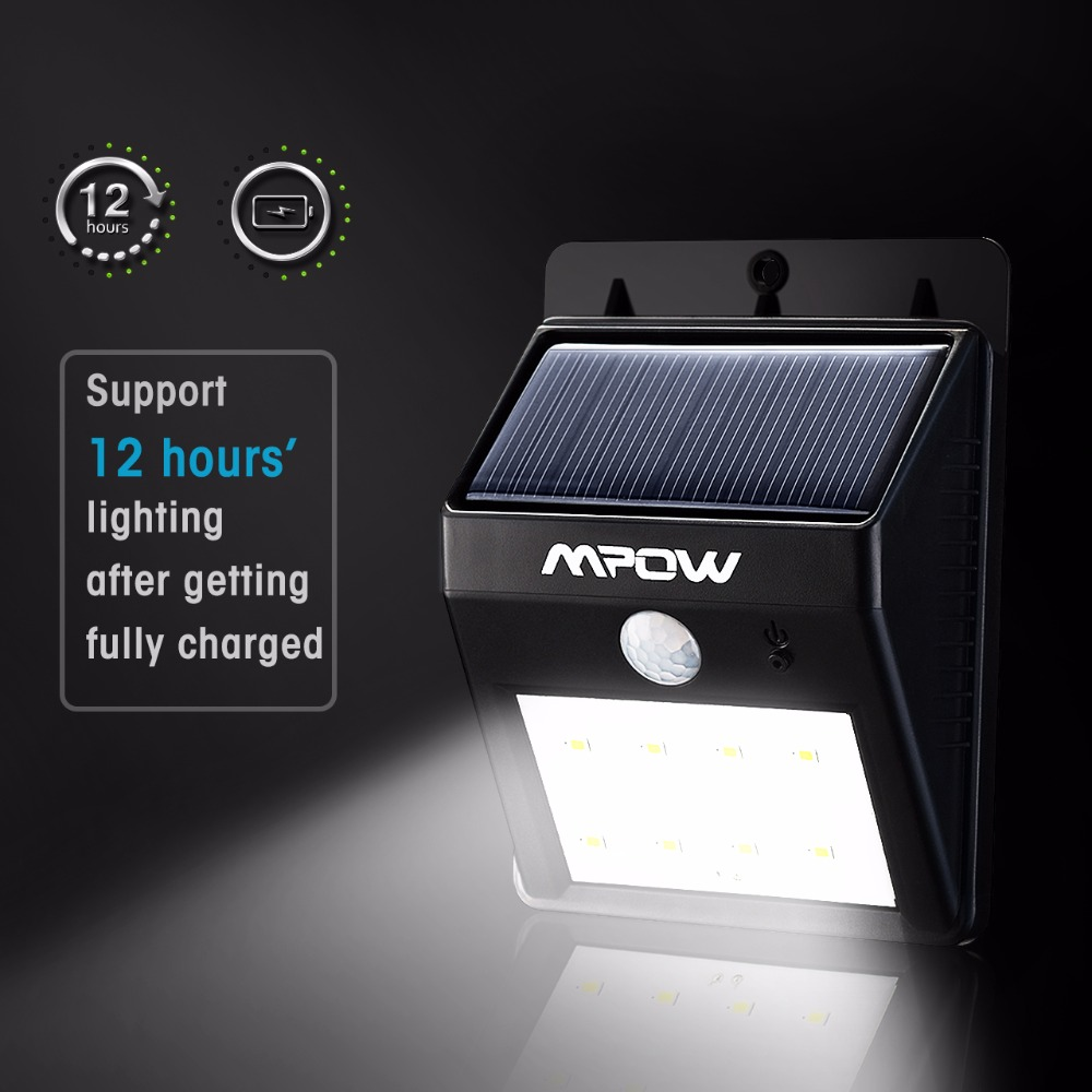 Mpow 4 Packs 8 LED Solar Energy Light Security Motion Sensor Led Solar Lamp Outdoor Garden Decoration Waterproof Driveway Lights