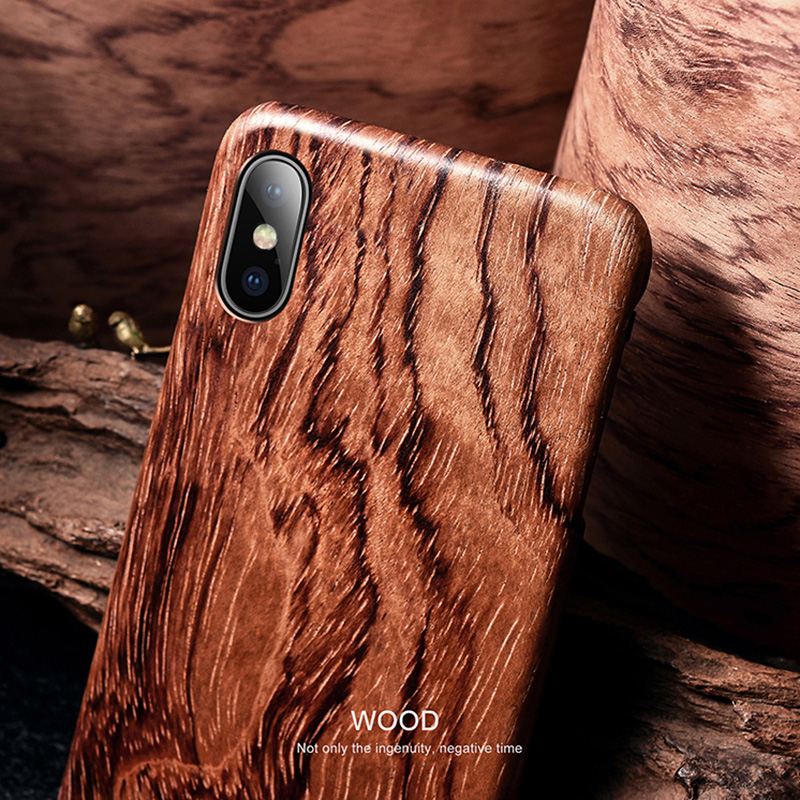 Image 3 - For Apple iPhone 11 Pro X XS Max XR walnut Enony Wood Rosewood MAHOGANY Wooden Back Case CoverFitted Cases   -