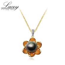 12-13mm perfect Round Natural Black Pearl Pendant Necklace For Women ,925 Sterling Silver Big Pearl Pendants Necklace Wedding недорого