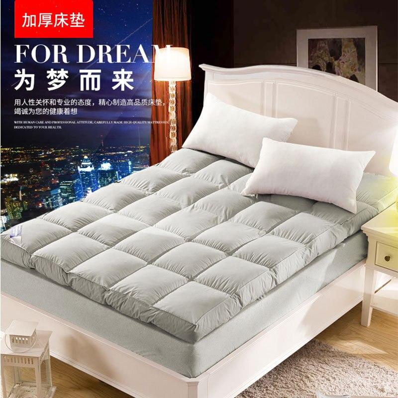 Thick velvet feather soft mattress Japanese tatami mattress Hotel mattress Filling of polyester fiber