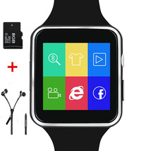 Heißen x6 smart watch android smartwatch tragbare geräte hd curved display unterstützung sim tf für iphone huawei handys mit kamera # B0
