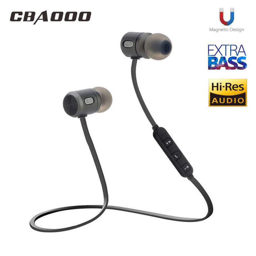 Bass Bluetooth Earphone Wireless Earphones With Mic Magnetic in ear Bluetooth Earbuds Headset For Mobile Phone Sports kulakl k fashion wireless bluetooth 4 2 stereo sports in ear earbuds magnetic headset with microphone for android samrtphone