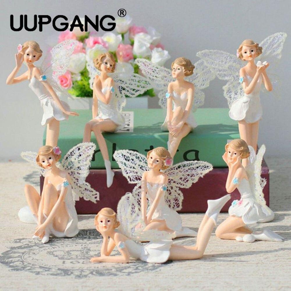 Creative Resin Flower Fairy Craft Decoration Articles Angel Home Decoration Desk Decor Pixie Elves Miniatures Figurines Ornament