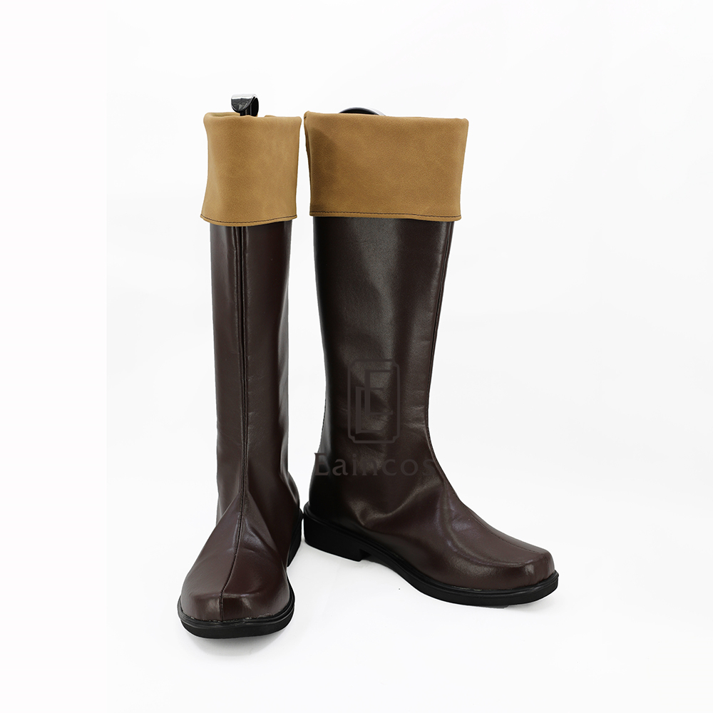 KonoSuba:God's Blessing on this Wonderful World Kazuma Satou Cosplay Shoes Brown Boots Custom-made