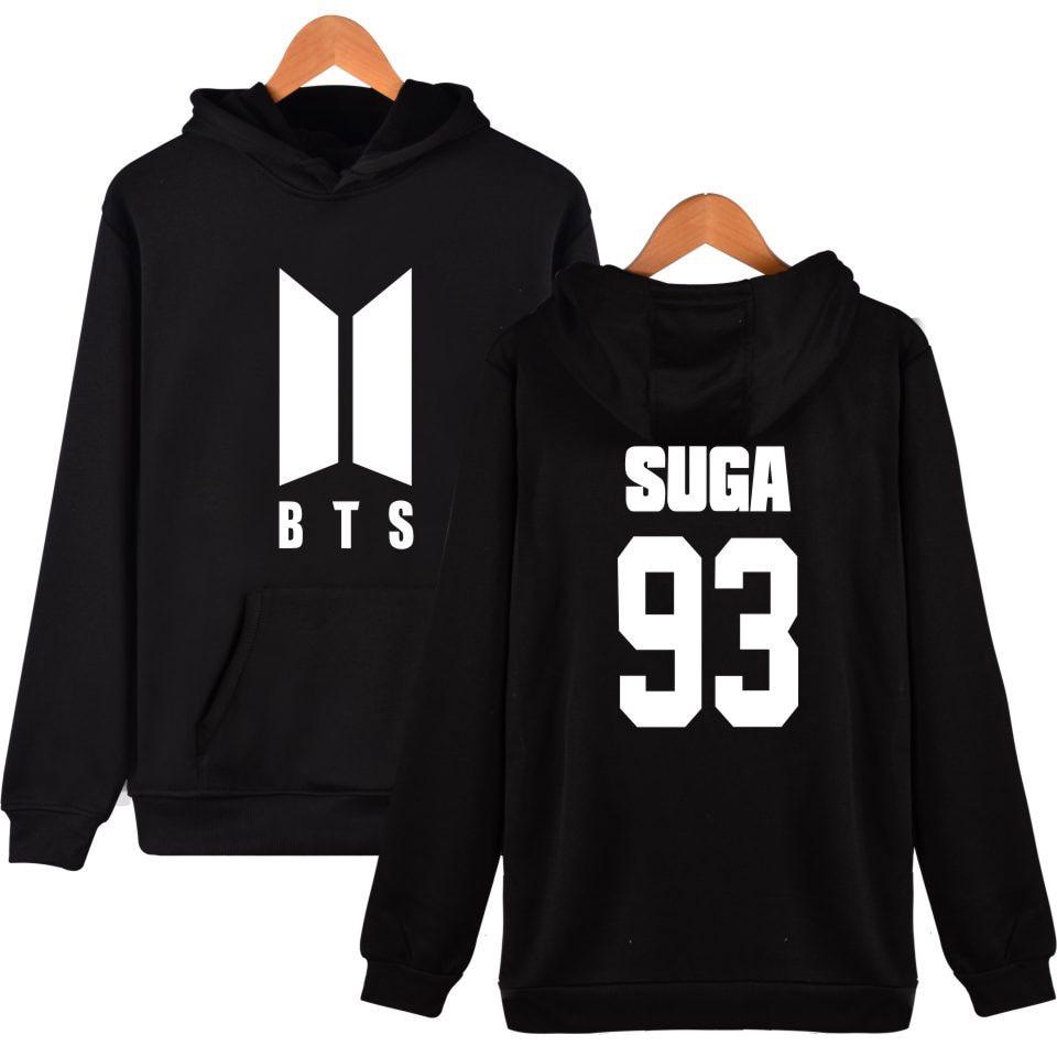 BTS Kpop Winter Long Hoodie Women/Men Fashion Popular Bangtan K-pop Hooded Women Hoodies Sweatshirt Casual Hip Hop Female Clothe