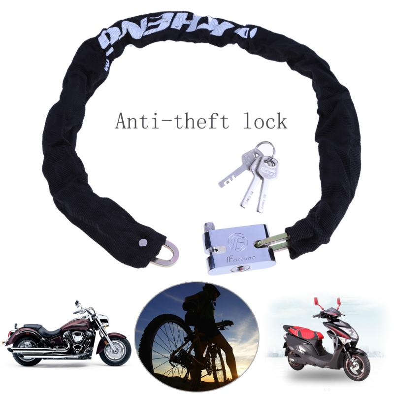 Upgrade Road Bike Bicycle Steel <font><b>Lock</b></font> Safety Anti-hydraulic Shear Chain Mount General <font><b>Lock</b></font> Flexible Cycling Strong Chain <font><b>Locks</b></font>