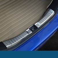 Accessories Stainless Steel Inner Rear Bumper Foot Plate Protector Sills Internal Car Styling For Honda Fit