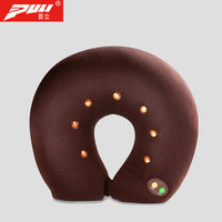 PULI U shaped Battery Operated Neck Cervical Traction Collar Massage Pillow Travel Kit Car Set Massager Relax Pain Relief