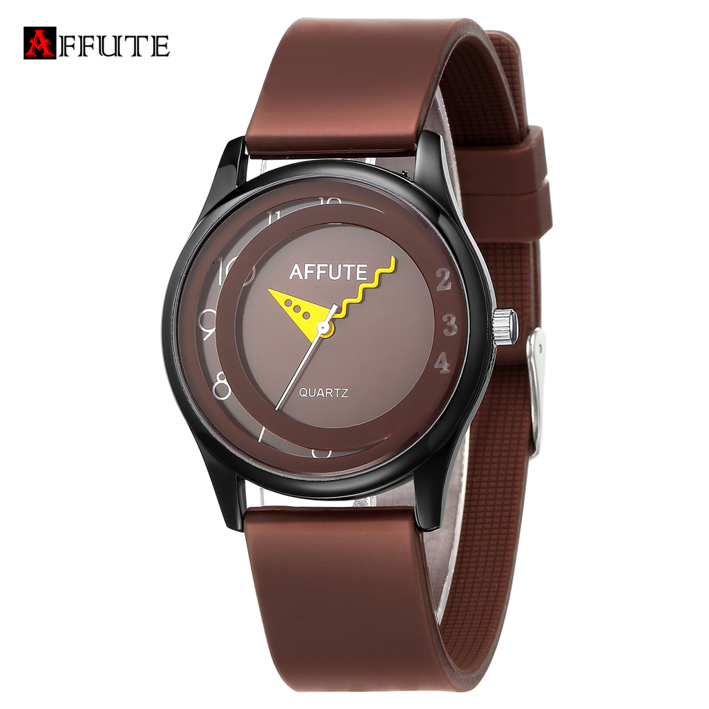 AFFUTE Brand Fashion Simple Silicone Waterproof Analog Quartz Sport Watches Men Womens Students Girls Boys Wristwatches Clock 2017 new fashion young style quartz wristwatches boys girls children students waterproof digital wrist sport watch hot gift 308