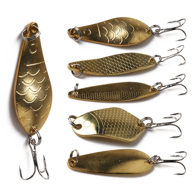 1pcs Metal Spinner Spoon Fishing Lure Hard Baits Gold /Silver Sequins Noise Paillette Treble Hook Tackle 10/10.5/14/16.5/20g