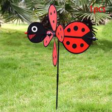 Bumble Bee Ladybug Windmill Whirligig Wind Spinner Home Yard Garden Decor China