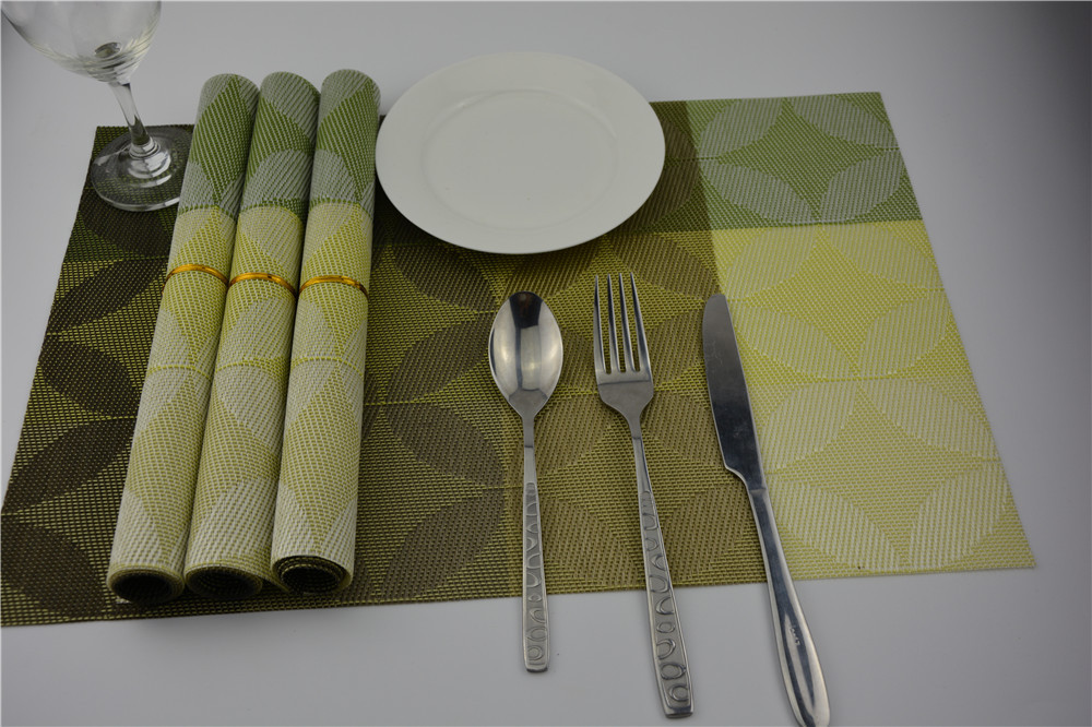4pcs/lot pvc placemat dining table mats set de table bowl pad napkin dining table tray mat coasters kids table decor EJI 0820