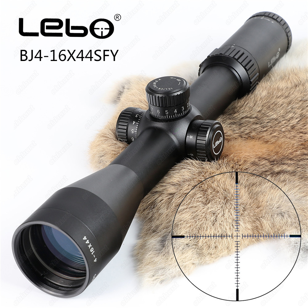 Tactical LEBO BJ 4-16X44 SFY First Focal Plane Rifle Scopes Side Parallax Glass Etched Reticle Hunting Riflescope new evv 4 16x44 ffp first focal plane tactical riflescope scopes hunting optical sight rifles with etched glass rangefinder