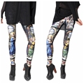 2015 New Style Leggins Women Printed Leggings Elastic Leggings Mid Waist Leggins Time Adventure Galaxy Leggings