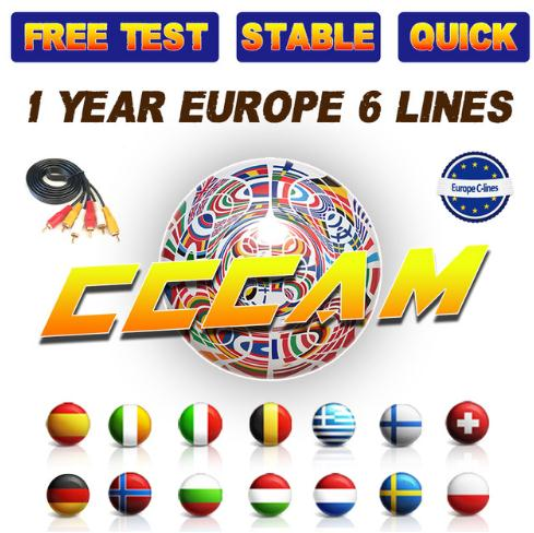 1 Year CCcam Europe Card Server Mgcamd Oscam for VU+ Samsat