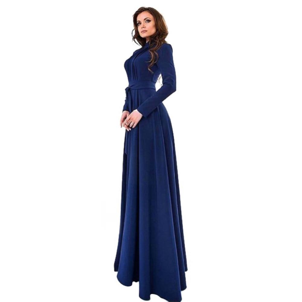 85d5f2c960 Elegant Women s Kaftan Jilbab Islamic Muslim Abaya Boho Evening Party Long  Sleeve Vintage Ball Gown Long Sleeve Long Maxi Dress