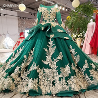 LS64219 color flowers green party dress o neck lace up illusion back evening dress with peplum 2018 china online wholesale
