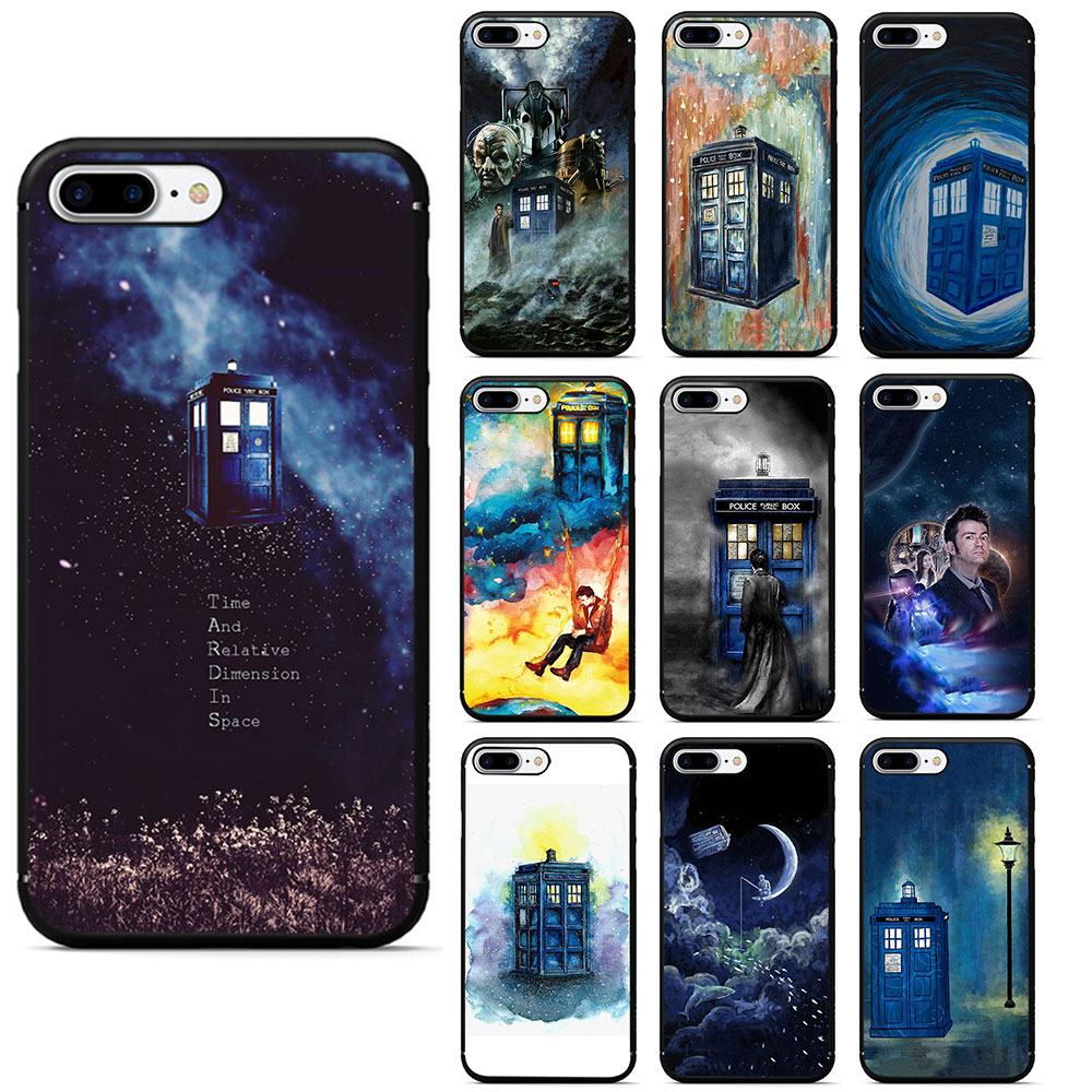 Half-wrapped Case Latest Collection Of Dr Doctor Who Police Call Box Tpu Silicone Phone Case For Iphone 5 5s 6 6s 7 8 Plus X Xr Xs Max Elegant Appearance