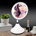 Llevó Espejo de Maquillaje Profesional Ajustable Encimera Giratoria Pantalla Táctil LED Espejo de Maquillaje Ronda Espejo de maquillaje con Luz LED