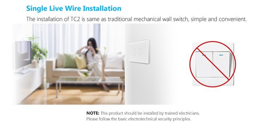 Broadlink TC2 1Gang 2Gang 3 Gang Touch Switch,US AU Standard Smart Home Automation,RF433 Wireless Wifi Control Light Wall Switch