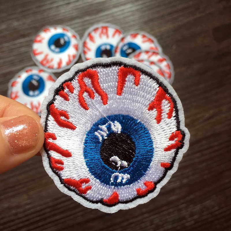 1 ชิ้น Evil Eye เย็บปักถักร้อยแพทช์เหล็กบน Applique เสื้อผ้ารองเท้ากระเป๋า Patch ตกแต่งเครื่องแต่งกายแพทช์ DIY LSHB464