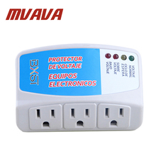 MVAVA PC Series Power Protector US Standard Socket White Home Appliance Surge Protector Voltage  50 Hz-60 Hz  Wall Socket