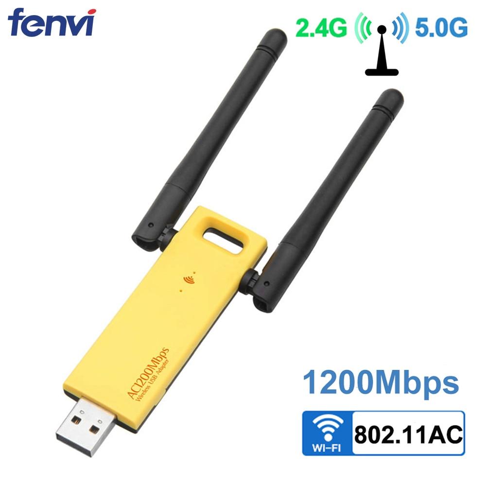Dual Band 1200 Mbps Wireless USB 3.0 Realtek RTL8812AU Wifi Adapter 2,4G/5 Ghz Netzwerk Karte Dongle Mit Antennen für Desktop PC