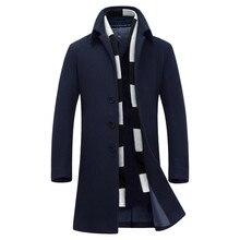 Luxury erkek mont fashion overcoat men wool & blends thicken sobretudo 2016 size M to 6XL