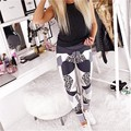 NCLAGEN Women Fashion Trousers High Waist Leopard Print Sexy Slim Fit Elastic Leggings For Woman Workout Skinny Fitness Bottoms