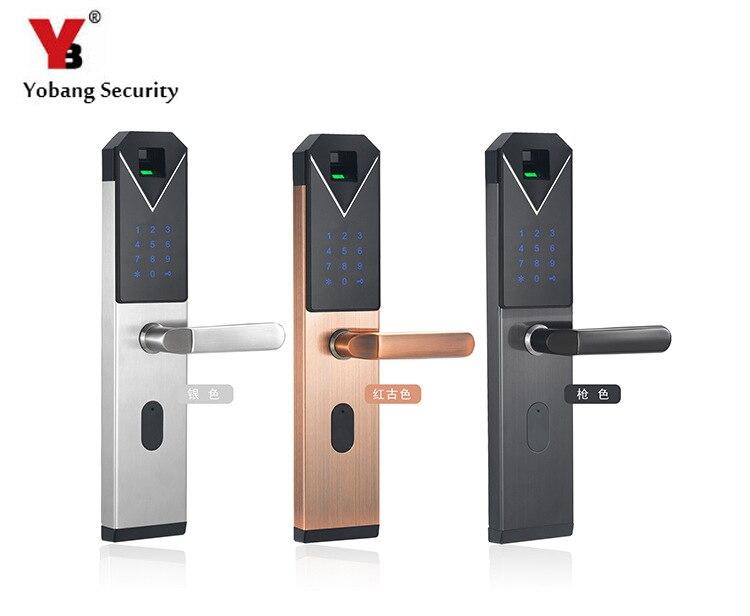 Electronic Smart Door Lock Fingerprint+4 Cards+2 Mechanical Keys Keyless Code Lock Smart Entry Office Home цены