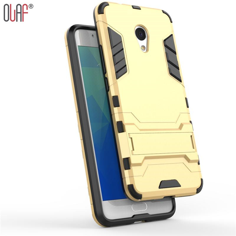 Olaf 2 in 1 Armor Kickstand Soft Silicone Deluxe Case For Meizu M5S Case Smartphone Housing