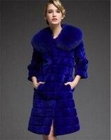 2017 Luxury Reay Fur Women S Jackets Rex Rabbit Fur Coat Medium And Long Fox Fur