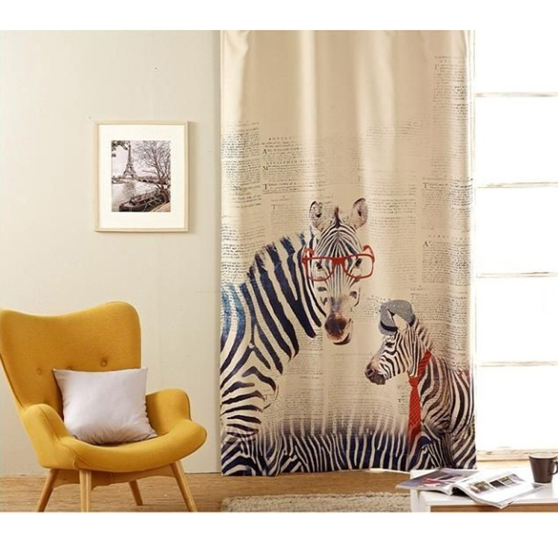 2016 New Zebra And Giraffe Curtains Cartoon Curtain Blinds Window Bedroom  For Decorative Curtains For Living Room  In Curtains From Home U0026 Garden On  ...