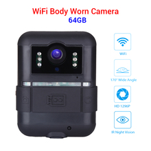 Boblov Wifi Body Cam 32GB WN11 1296P Novatek 96658 Ultra HD Police Camera 360 Rotation Clip Night Vision Camara Policial